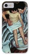 Child's Bath IPhone Case by Mary Cassatt