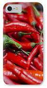 Chili Peppers At The Market IPhone Case by Heather Applegate