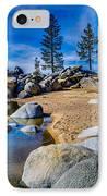 Chimney Beach Lake Tahoe IPhone Case by Scott McGuire