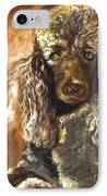 Chocolate Poodle IPhone Case by Susan A Becker