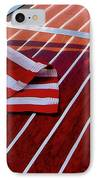 Chris Craft With American Flag IPhone Case by Michelle Calkins