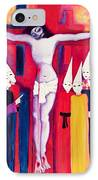 Christ And The Politicians IPhone Case by Laila Shawa