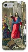 Christ Cleanses The Temple IPhone Case by Siegfried Detler Bendixen