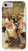 Christ With Children IPhone Case by Peter Seabright