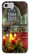 Christmas Candles IPhone Case by Adrian Evans