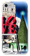 Christmas In Philadelphia IPhone Case by Bill Cannon