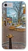 Christmas Old Town IPhone Case by Baywest Imaging