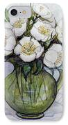 Christmas Roses IPhone Case by Gillian Lawson