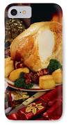 Christmas Turkey Dinner With Wine IPhone Case by The Irish Image Collection