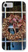 Christmas Wreath IPhone Case by Darren Fisher