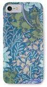 Chrysanthemums In Blue IPhone Case
