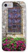 Church Window In Brittany IPhone Case by Elena Elisseeva