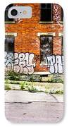 Cincinnati Glencoe Auburn Place Graffiti Photo IPhone Case