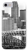 Cincinnati Skyline Black And White Picture IPhone Case by Paul Velgos