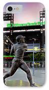 Citizens Bank Park - Mike Schmidt Statue IPhone Case