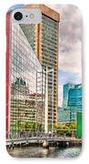 City - Baltimore Md - Harbor Place - Future City  IPhone Case by Mike Savad