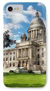 City - Providence Ri - The Capitol  IPhone Case by Mike Savad