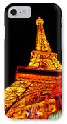 City - Vegas - Paris - Eiffel Tower Restaurant IPhone Case