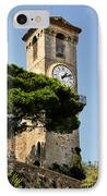 Clock Tower - Cannes - France IPhone Case
