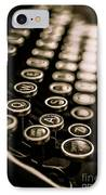 Close Up Vintage Typewriter IPhone Case by Edward Fielding