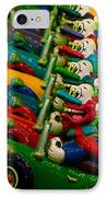 Clowns In Cars Amusement Park Game IPhone Case by Amy Cicconi