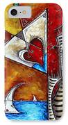 Coastal Martini Cityscape Contemporary Art Original Painting Heart Of A Martini By Madart IPhone Case by Megan Duncanson