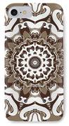 Coffee Flowers 10 Ornate Medallion IPhone Case by Angelina Vick