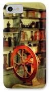 Coffee Grinder And Canister Of Sugar IPhone Case by Susan Savad