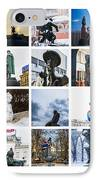 Collage - Moscow Monuments - Featured 3 IPhone Case by Alexander Senin