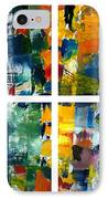 Color Relationships Collage IPhone Case by Michelle Calkins