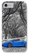 Color Your World - Lamborghini Gallardo IPhone Case by Steve Harrington