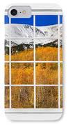 Colorado Rocky Mountain Autumn Pass White Window View  IPhone Case