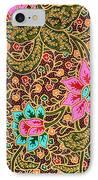 Colorful Batik Cloth Fabric Background  IPhone Case