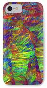 Colorful Computer Generated Abstract Fractal Flame IPhone Case by Keith Webber Jr