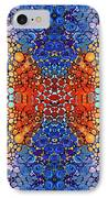 Colorful Layers Vertical - Abstract Art By Sharon Cummings IPhone Case by Sharon Cummings