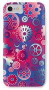 Colorful Metallic Gears IPhone Case by Gaspar Avila