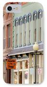 Colorful Shops Quaint Street Scene IPhone Case by Ann Powell