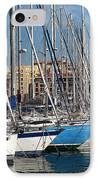 Colors In The Port IPhone Case by John Rizzuto