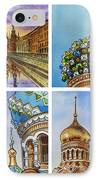 Colors Of Russia Church Of Our Savior On The Spilled Blood  IPhone Case by Irina Sztukowski