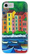 Colours Of Portofino IPhone Case by Lisa  Lorenz