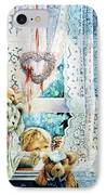 Come Out And Play Teddy IPhone Case by Hanne Lore Koehler