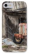 Comfortable Chaos - Old Tractor At Rest - Agricultural Machinary - Old Barn IPhone Case