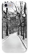Commons Park Pathway IPhone Case by Scott Pellegrin