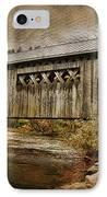 Comstock Bridge 2012 IPhone Case by Deborah Benoit