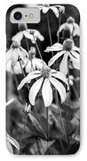 Coneflowers Echinacea Yellow Bw IPhone Case by Rich Franco