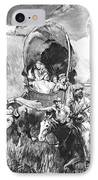 Conestoga Wagons 1890 IPhone Case by Padre Art