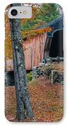 Corbin Covered Bridge Newport New Hampshire IPhone Case by Edward Fielding