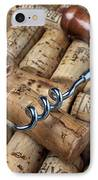 Corkscrew On Corks IPhone Case by Garry Gay