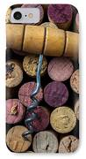 Corkscrew On Top Of Wine Corks IPhone Case by Garry Gay