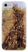 Corn Stalk Bales IPhone Case by Marcia Colelli